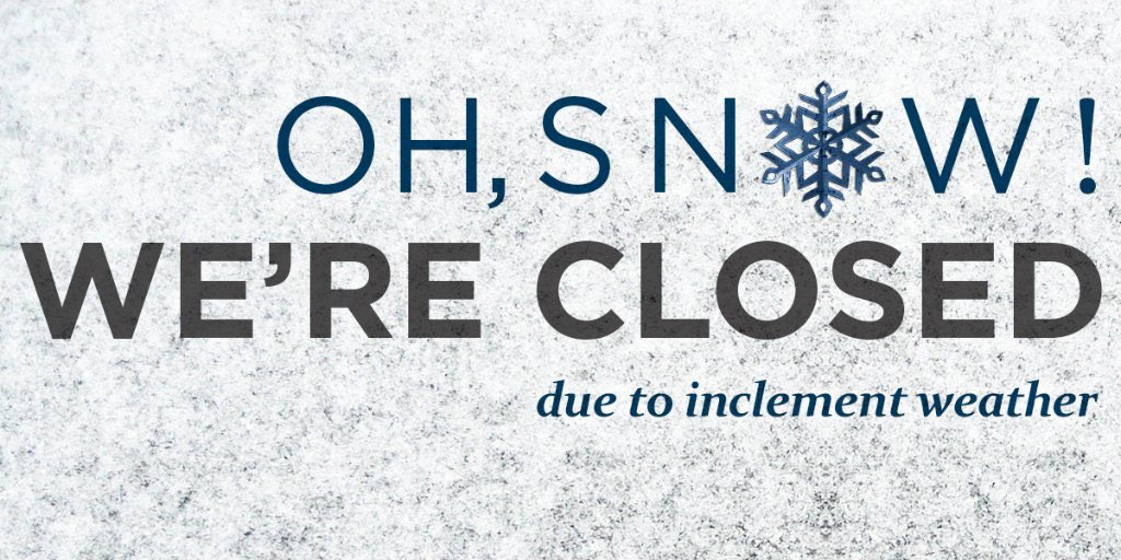 Stay warm. Stay safe. We're closing early today. Gotta' love Canadian winters!