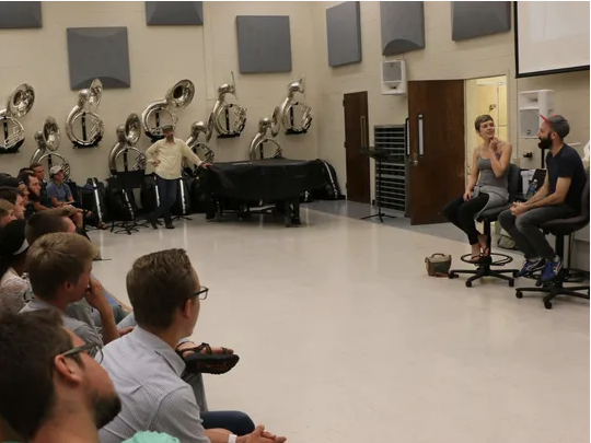 THE TENNESSEAN -  Music duo and YouTube stars  Pomplamoose  visited Middle Tennessee State University for a Q-and-A session with students Thursday afternoon.