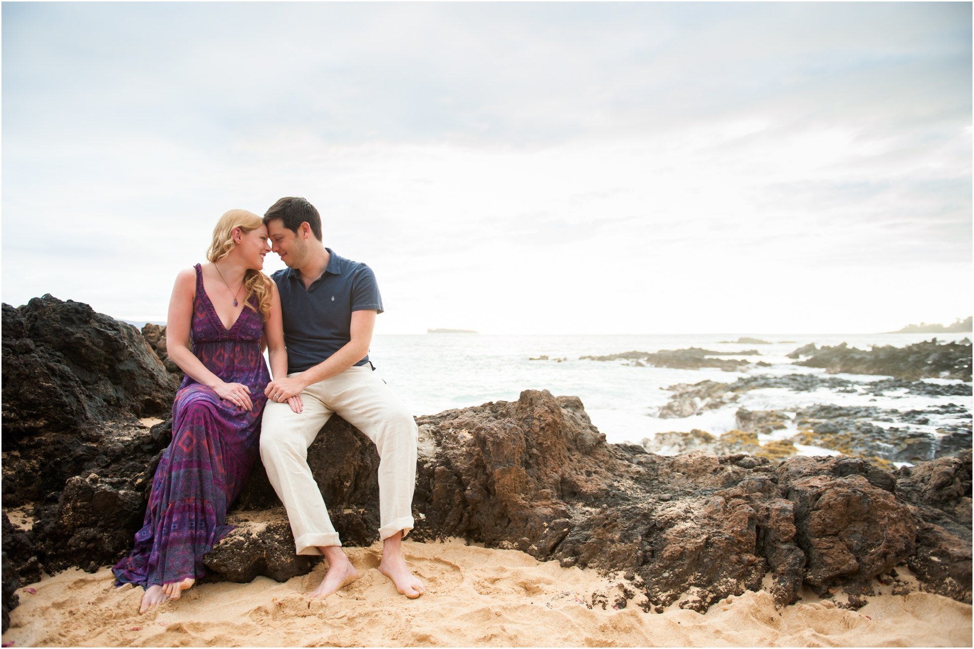 Christina + Jeff's Honeymoon Portraits at Makena Cove