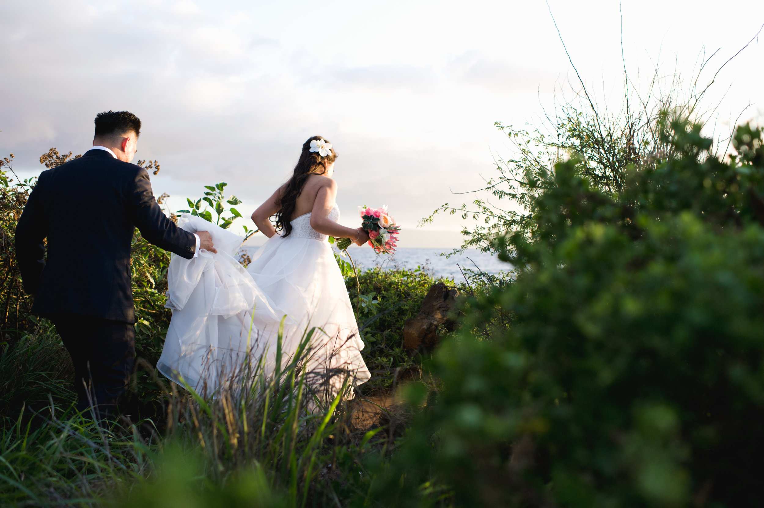 Romantic Oceanfront Wedding at Kukahiko Estate
