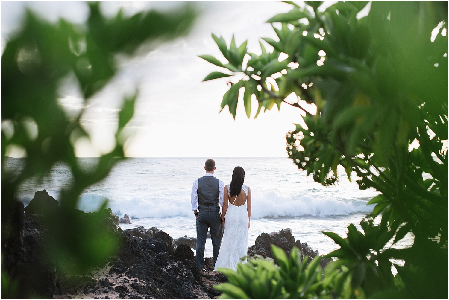 Maui trash the dress photography at Po'olenalena Beach