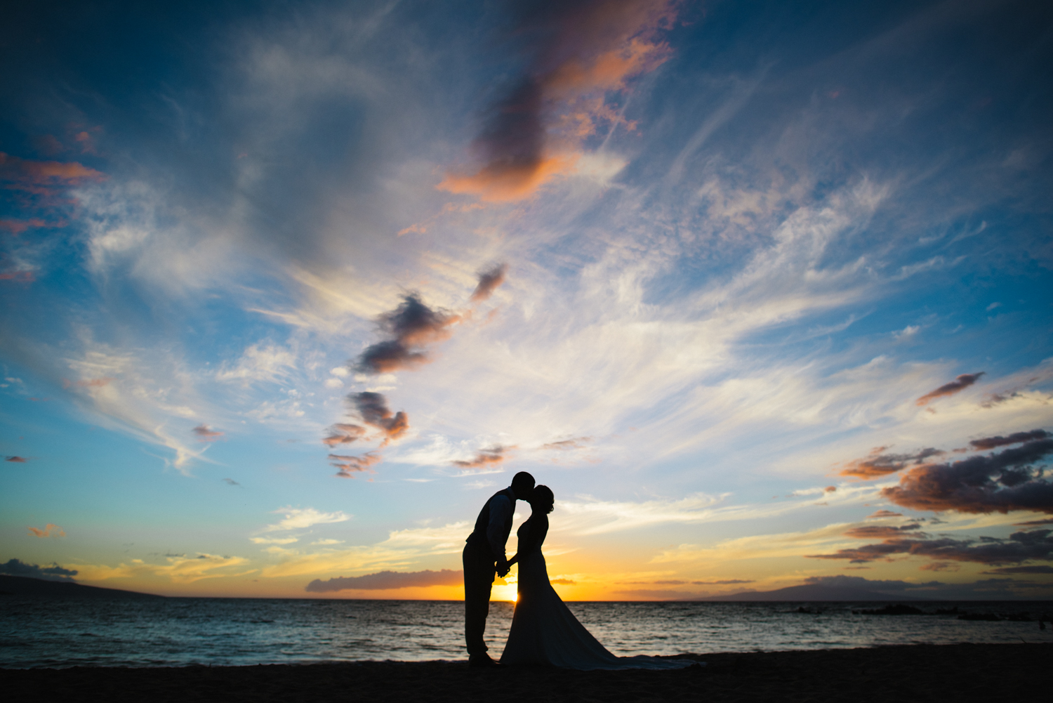 Maui Wedding Photographer, Naomi Levit, captures Wailea sunset