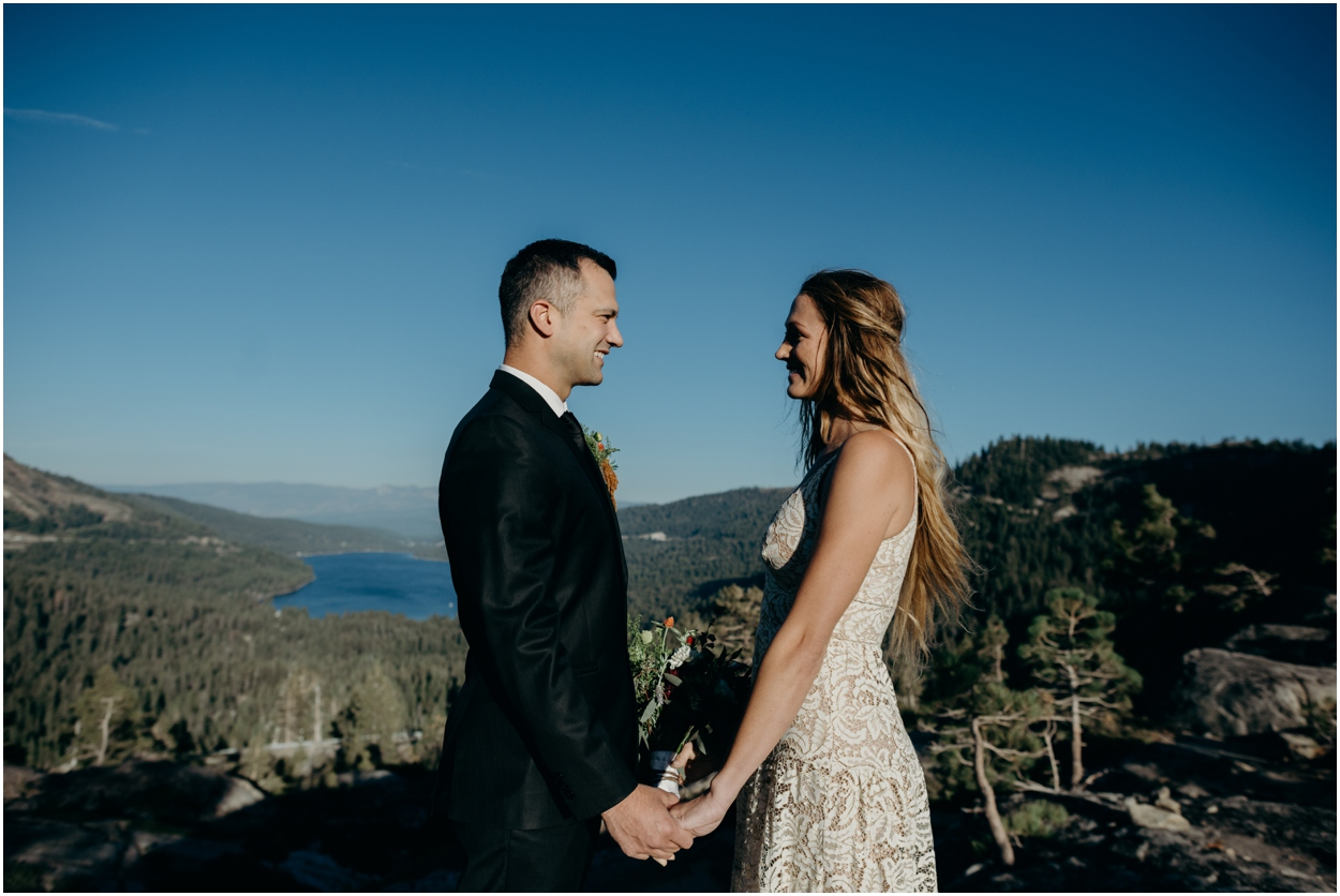 Donner Pass Adventure Elopement in Truckee, California