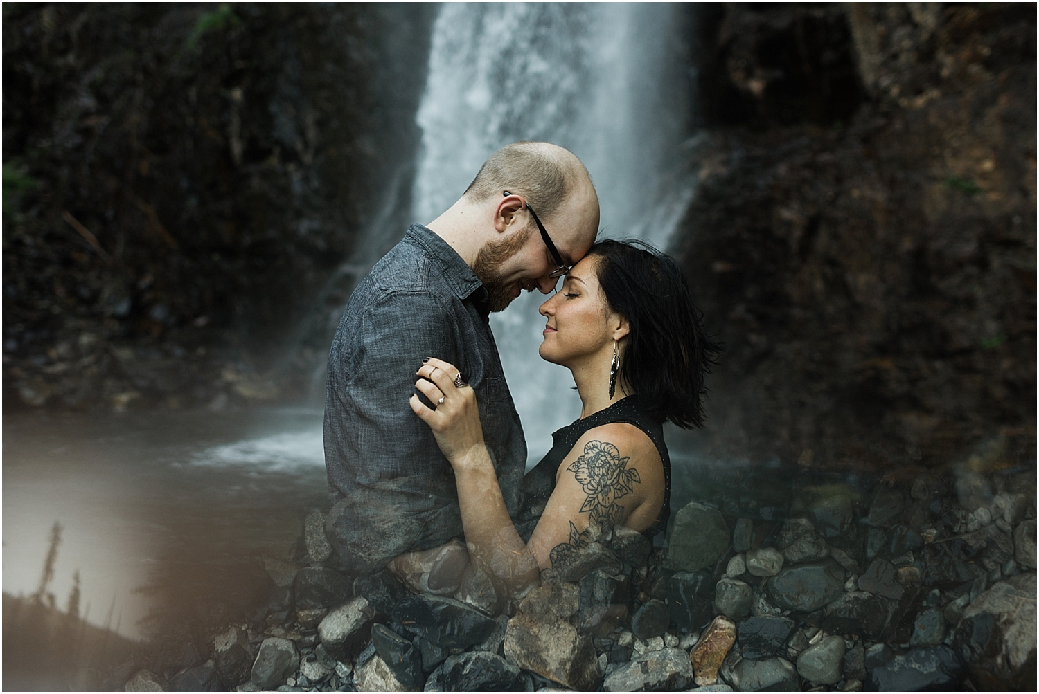 Franklin Falls Adventure Engagement Session | Washington Adventure Wedding Photographer