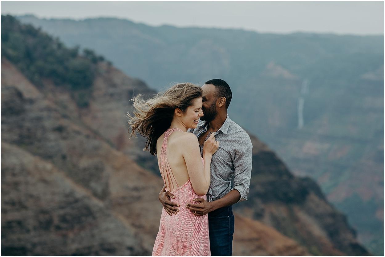 epic honeymoon adventure session at waimea canyon on kauai
