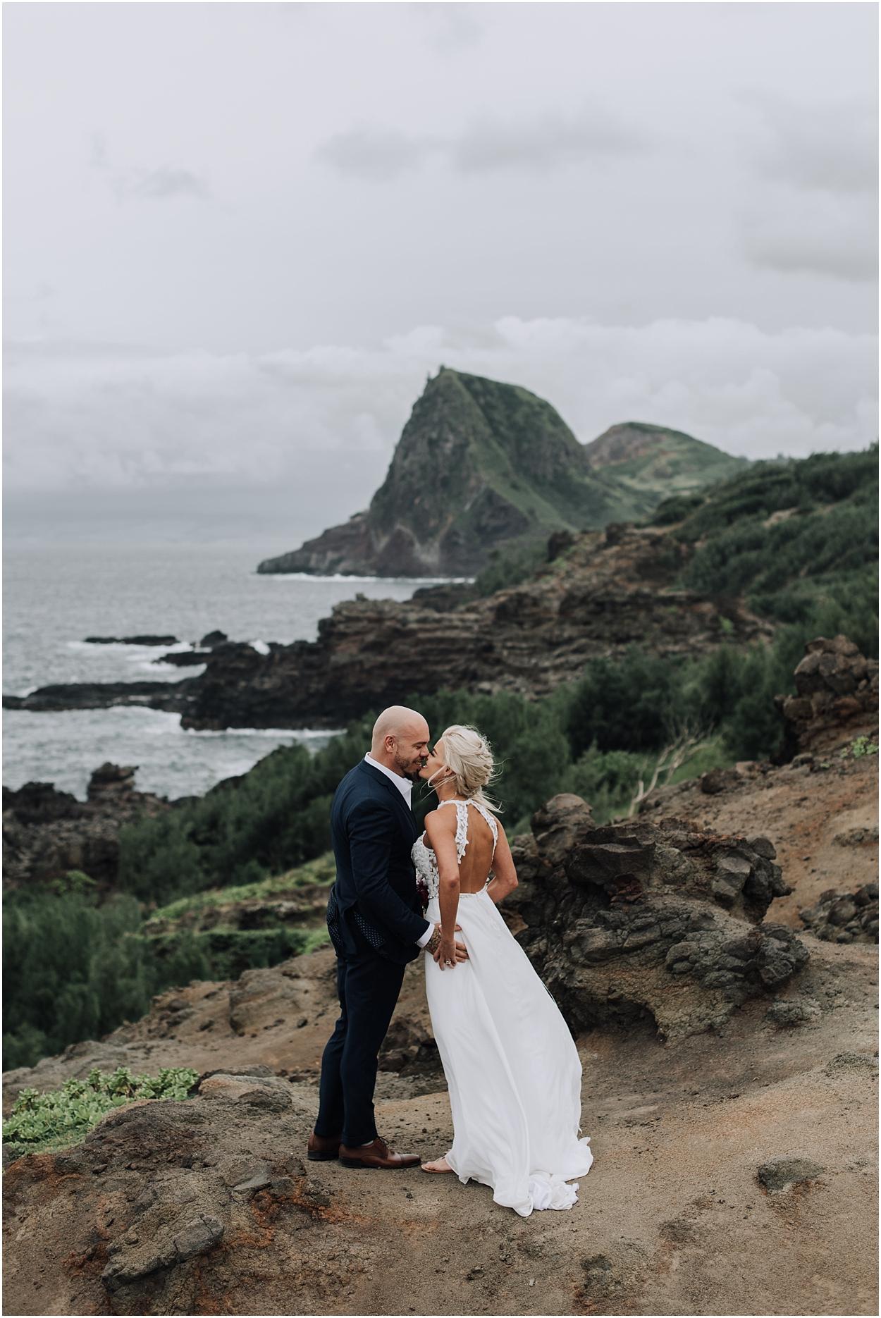 adventurous maui adventure elopement near kahakuloa hawaii