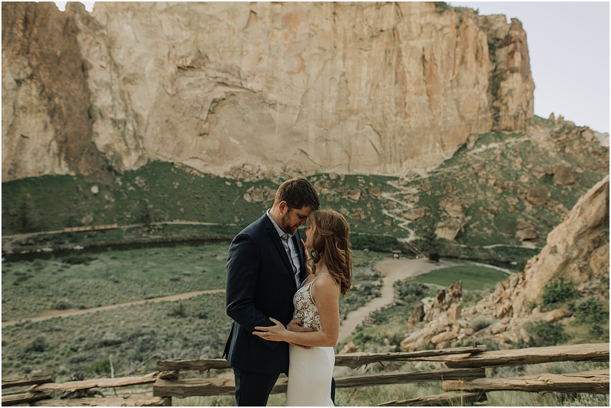 adventure elopement inspiration in Smith Rock State Park near Bend, Oregon