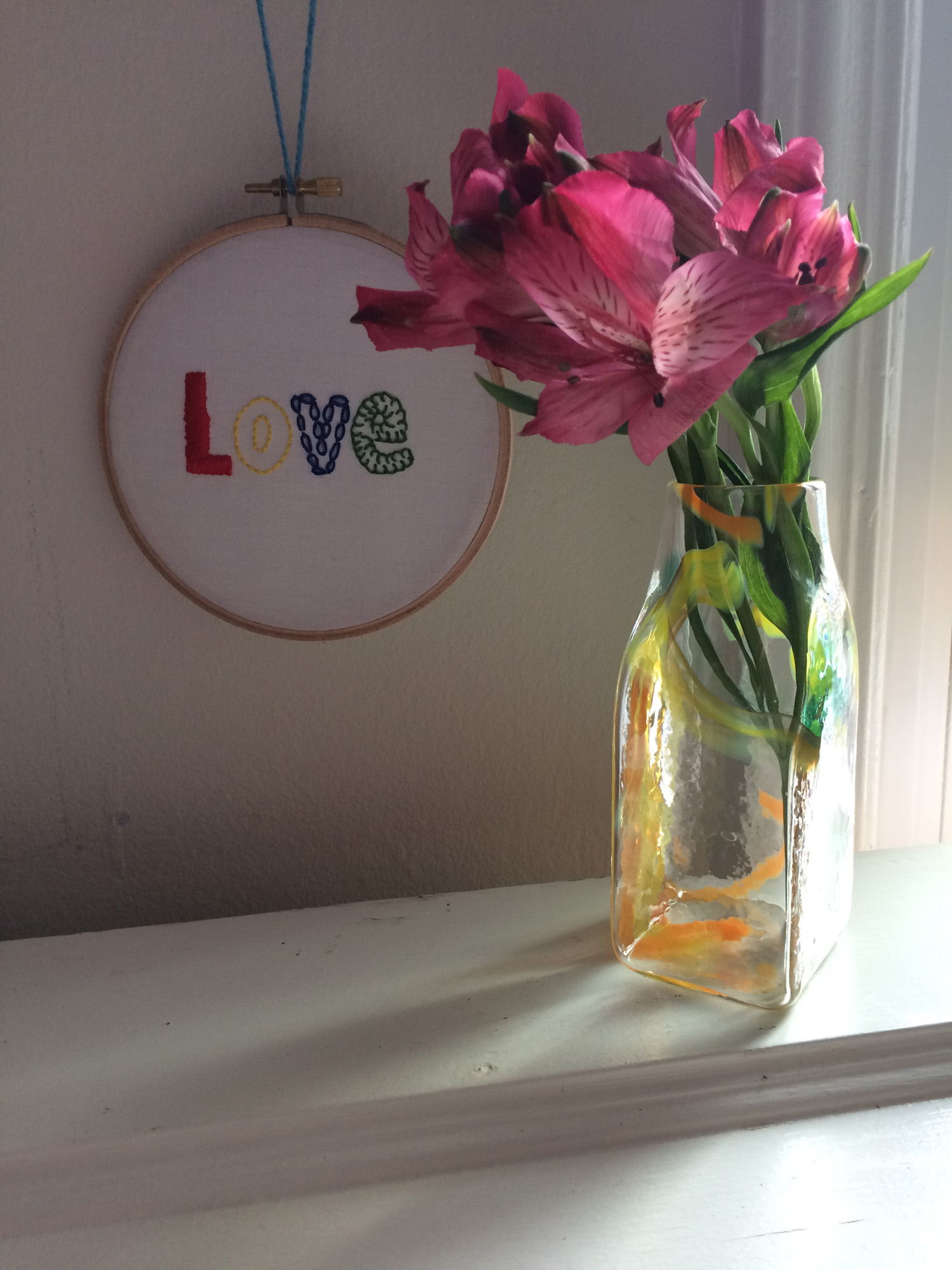 Orange and Yellow Brickyard Vase by Wunder Around_flowersjpg.jpg