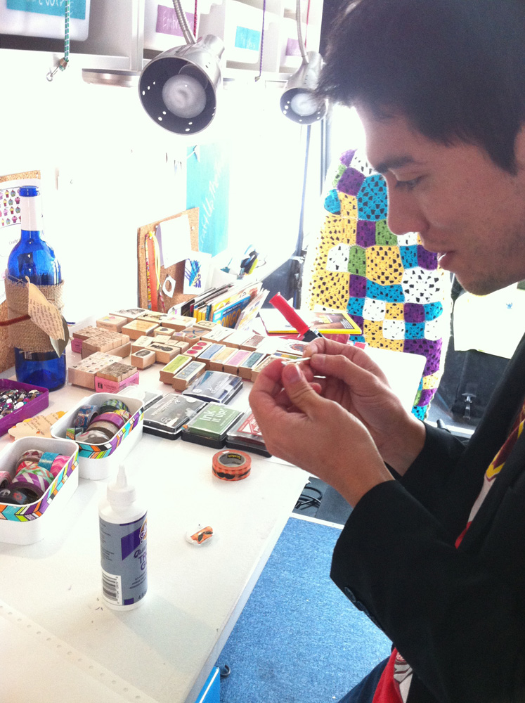 button making in the Craft Commons truck.jpg