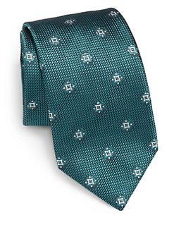 Mini Medallion Silk Tie