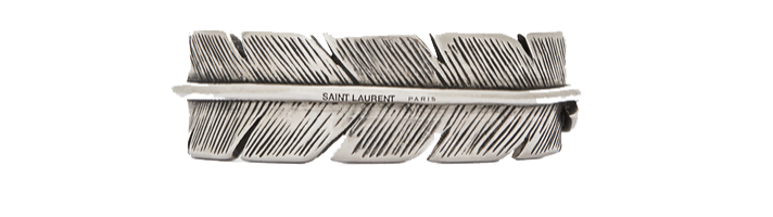 PLUMES BRACELET IN OLD SILVER-TONED STERLING SILVER
