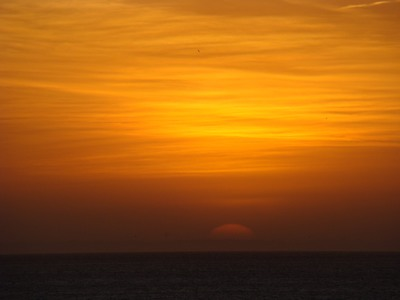 Sunrises softly over Surfriders Beach in Malibu   W  hat is now proved was once imagined. …William Blake