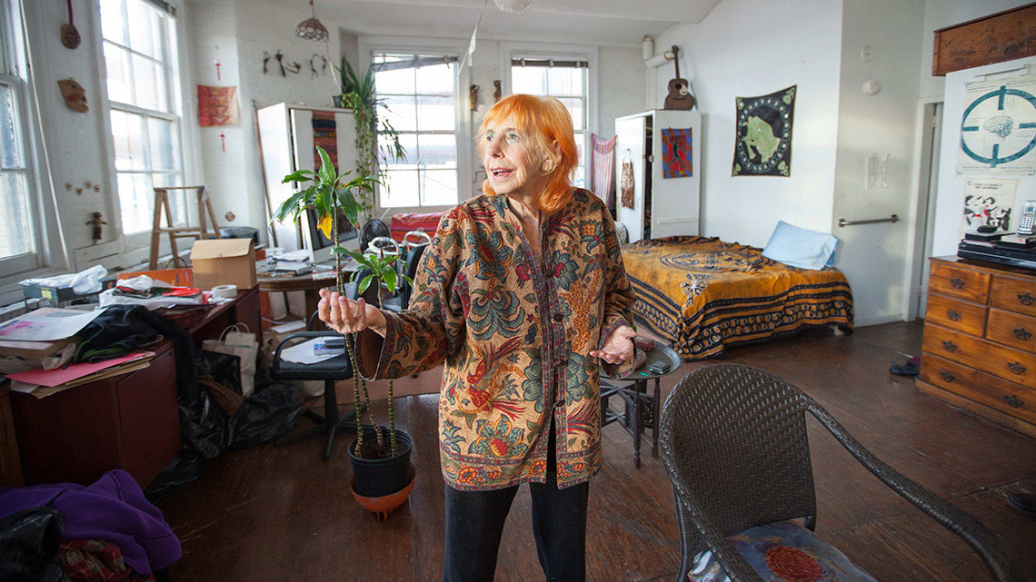 Edith Stephens in her apartment. Photo by duncan hewitt.
