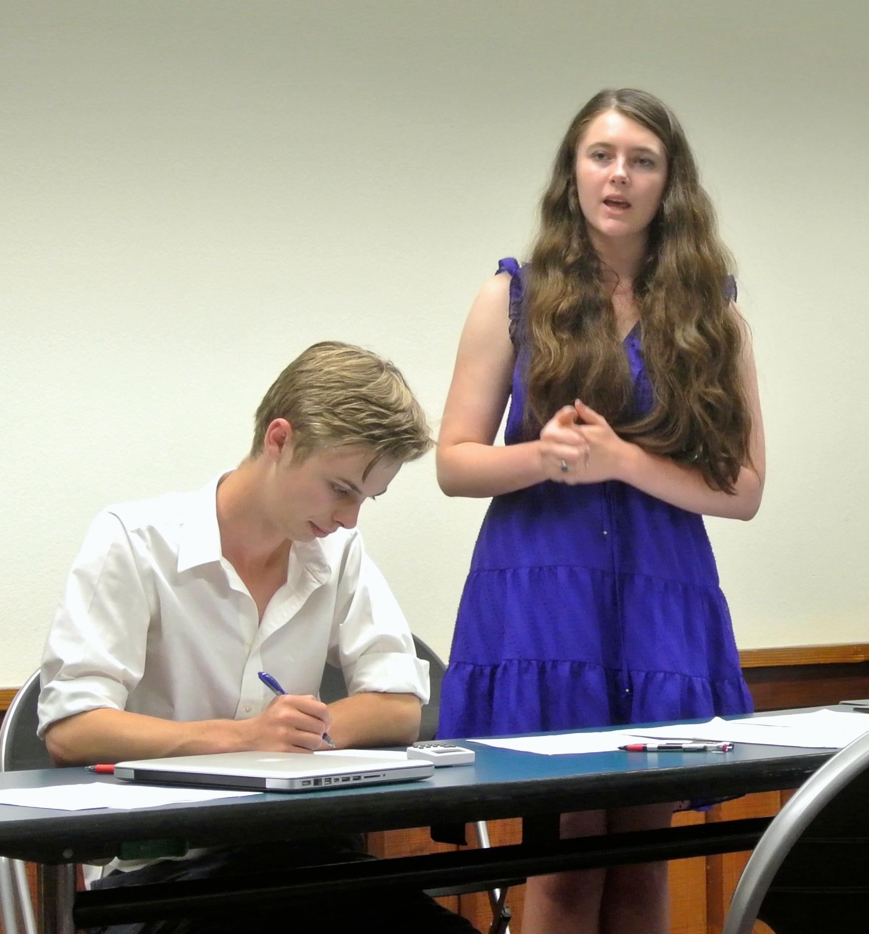 Maciorowski delivers her constructive speech in sems and Noel flows.