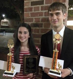 Tournament champions Emily Hall & Thomas White.