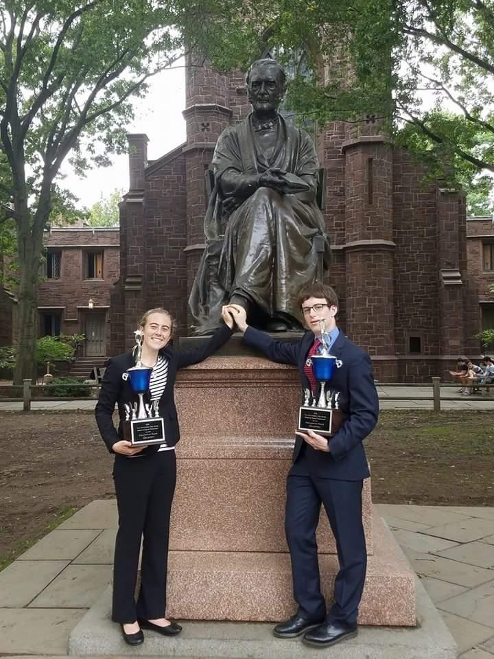 Lilly Hackworth of Notre Dame and Spencer Dembner of Los Altos captured the top team trophy.
