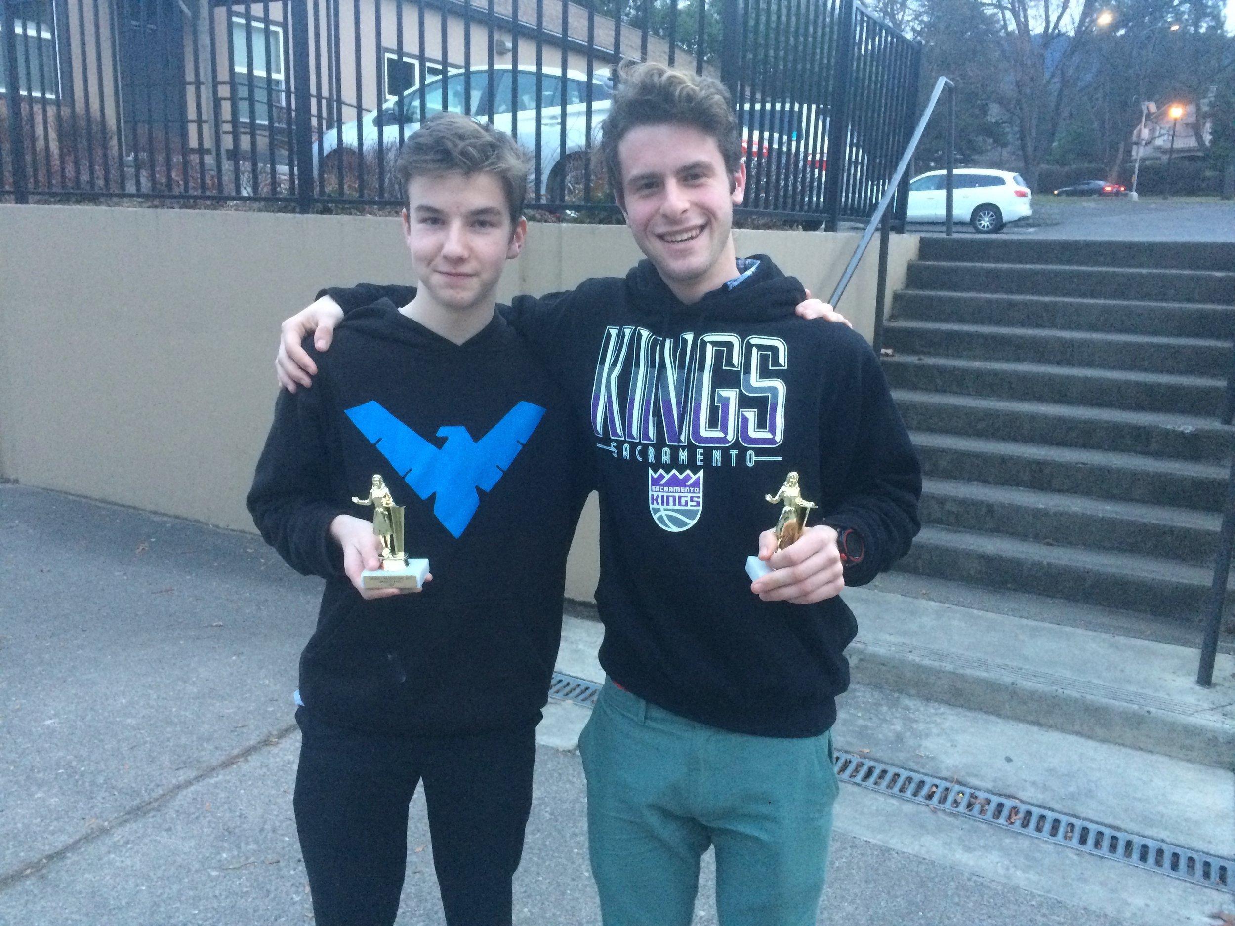 Tournament champions Ben Schwartz and Amos Karlson