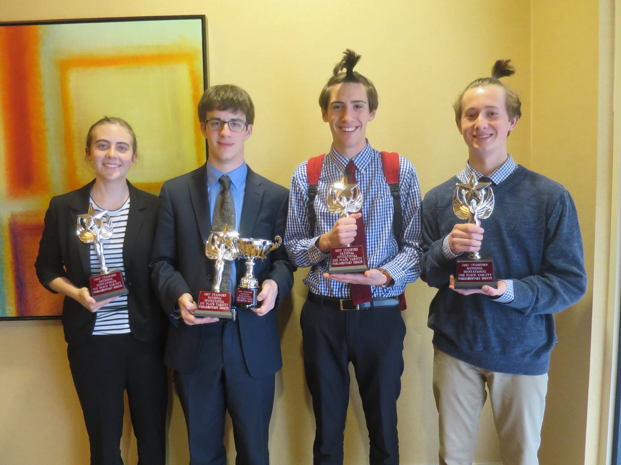 Tournament champions Lilly Hackworth & Spencer Dembner pose alongside finalists Rob Stallman & John Ropp after the final round.