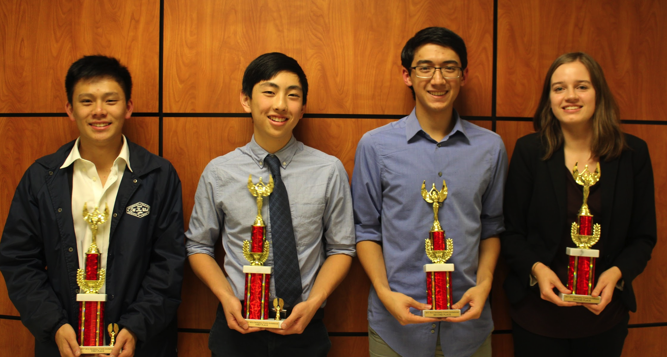 (left to right) Zeng, Wong, Gomez Siu, Stankus pose after finals round