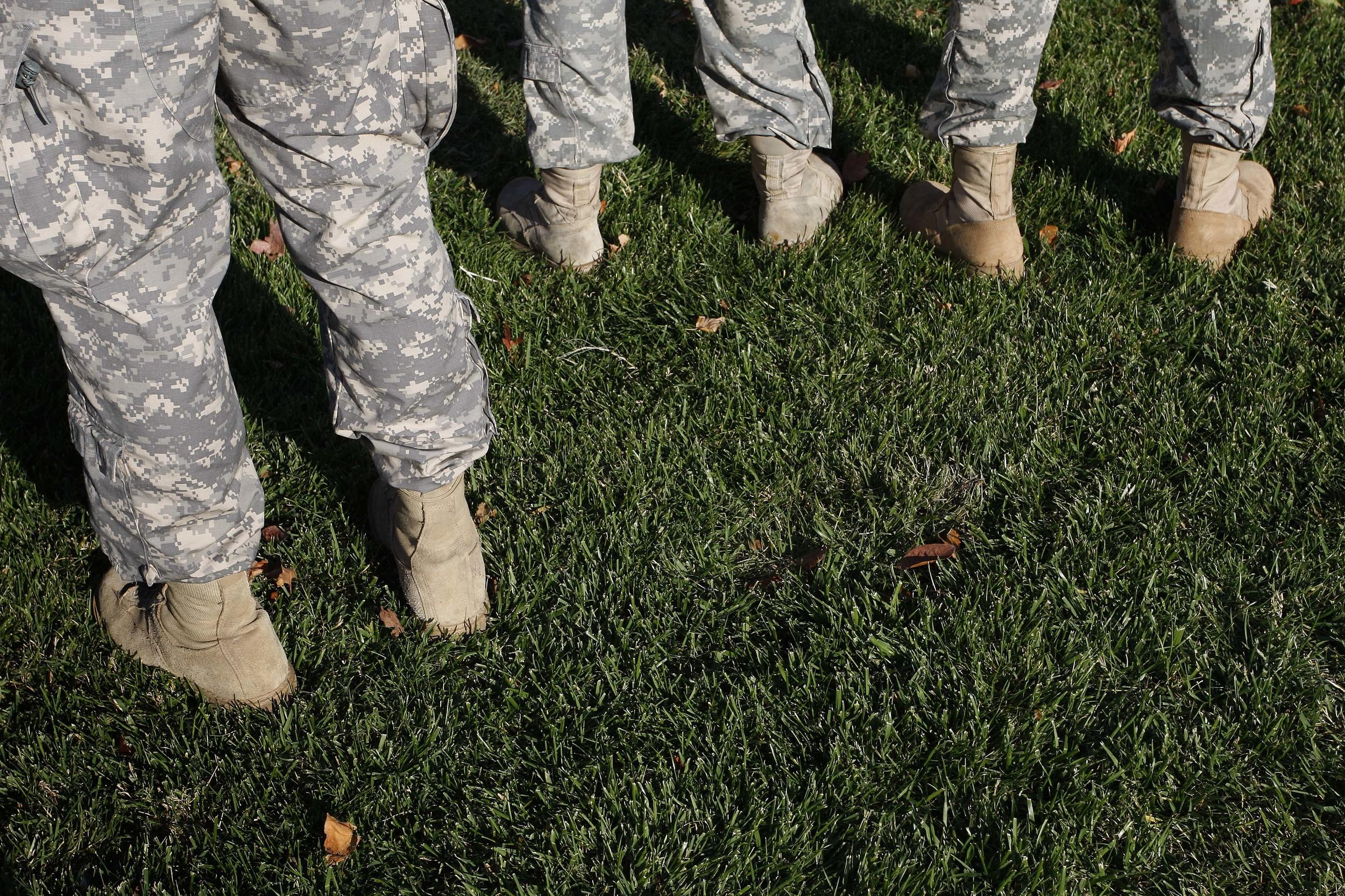 Troops at a parade