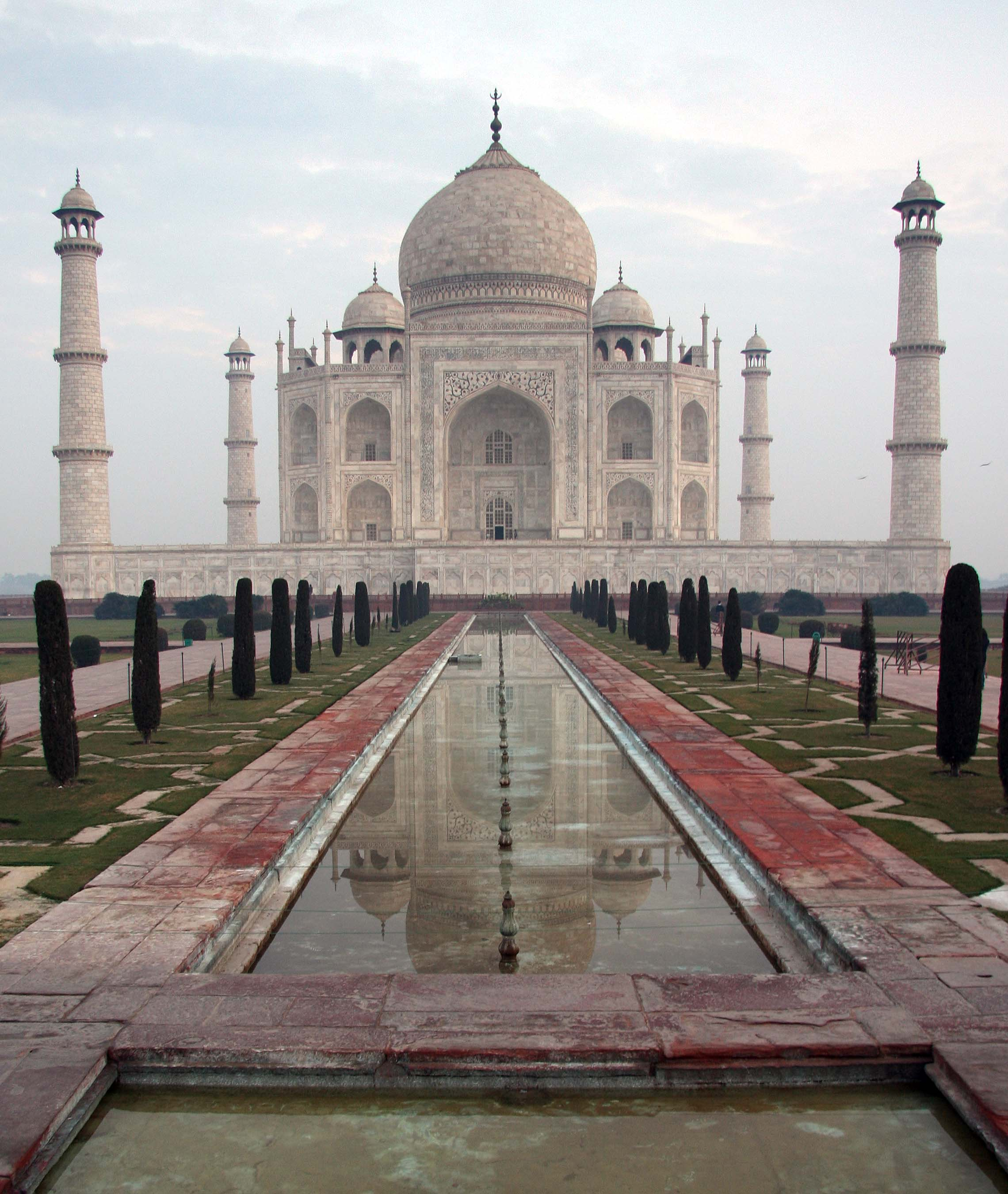 Taj Mahal at Dawn.  Agra, India.