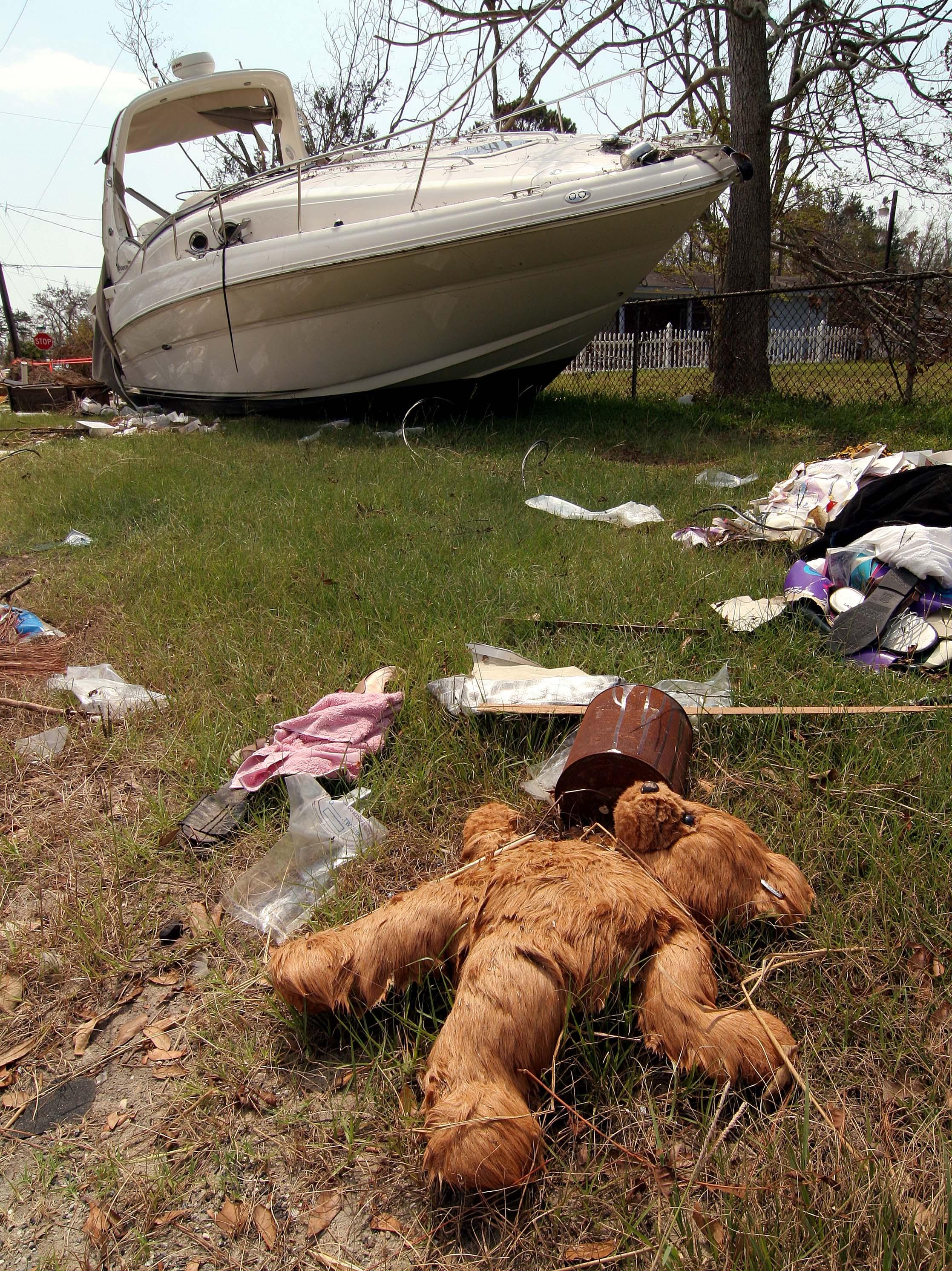 Hurricane Katrina damage - 2005