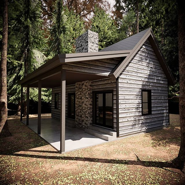 Cozy cabin in the woods. Modern construction with a rustic feel of days past.  #cabin #cabinlife #mountainhome #tinyhouse #retreat #vacationhome #architecture #pineforest