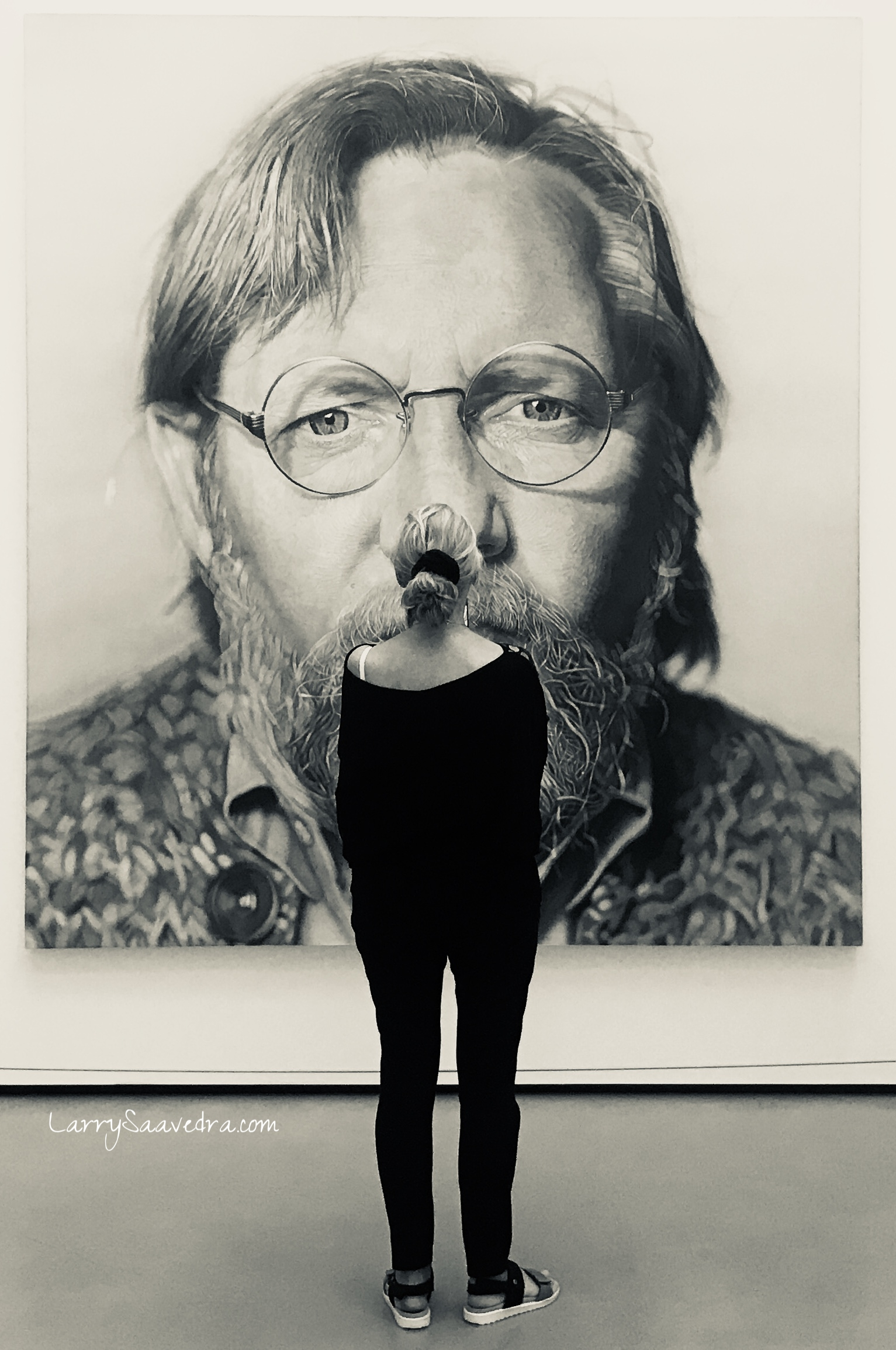 #metoo and the-accused. iPhone image in natural light. Work of artist Chuck Close at the Broad Museum in LA on display after being accused of harassment.