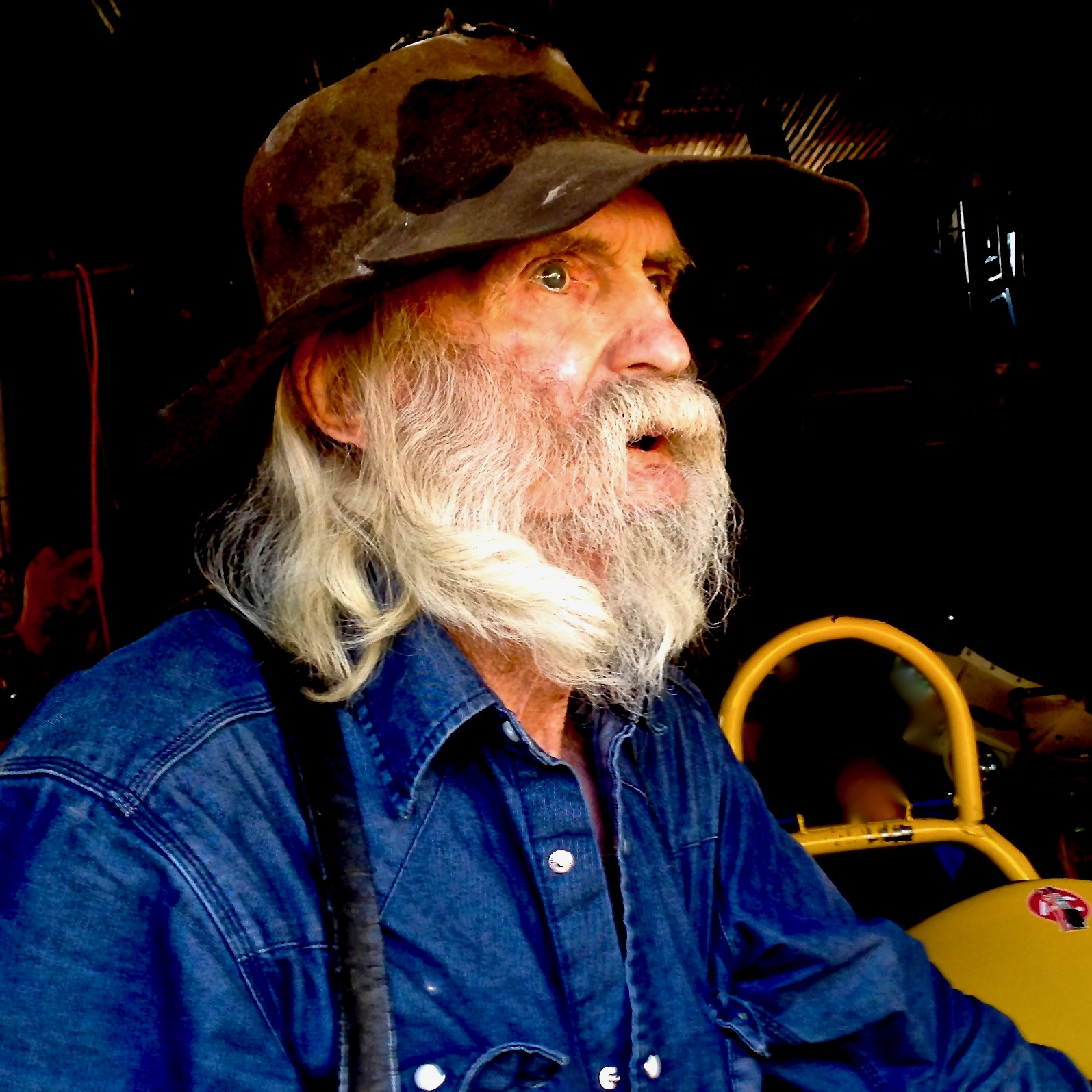 Taken in the garage of a well-known junk collector in Jerome, Arizona using natural light with fill flash on iPhone6.