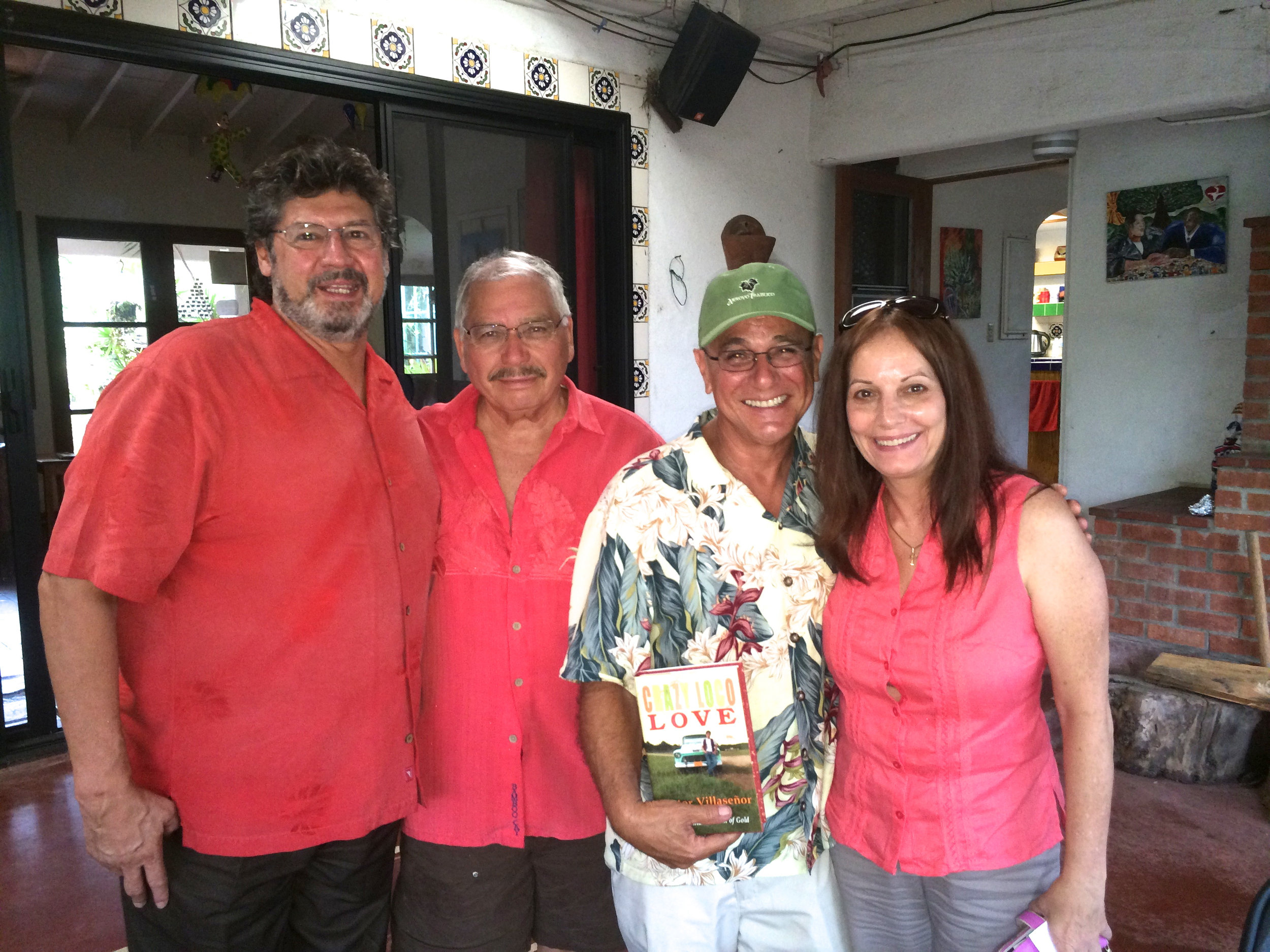 Me (second from right) and Victor Villaseñor standing next to me.