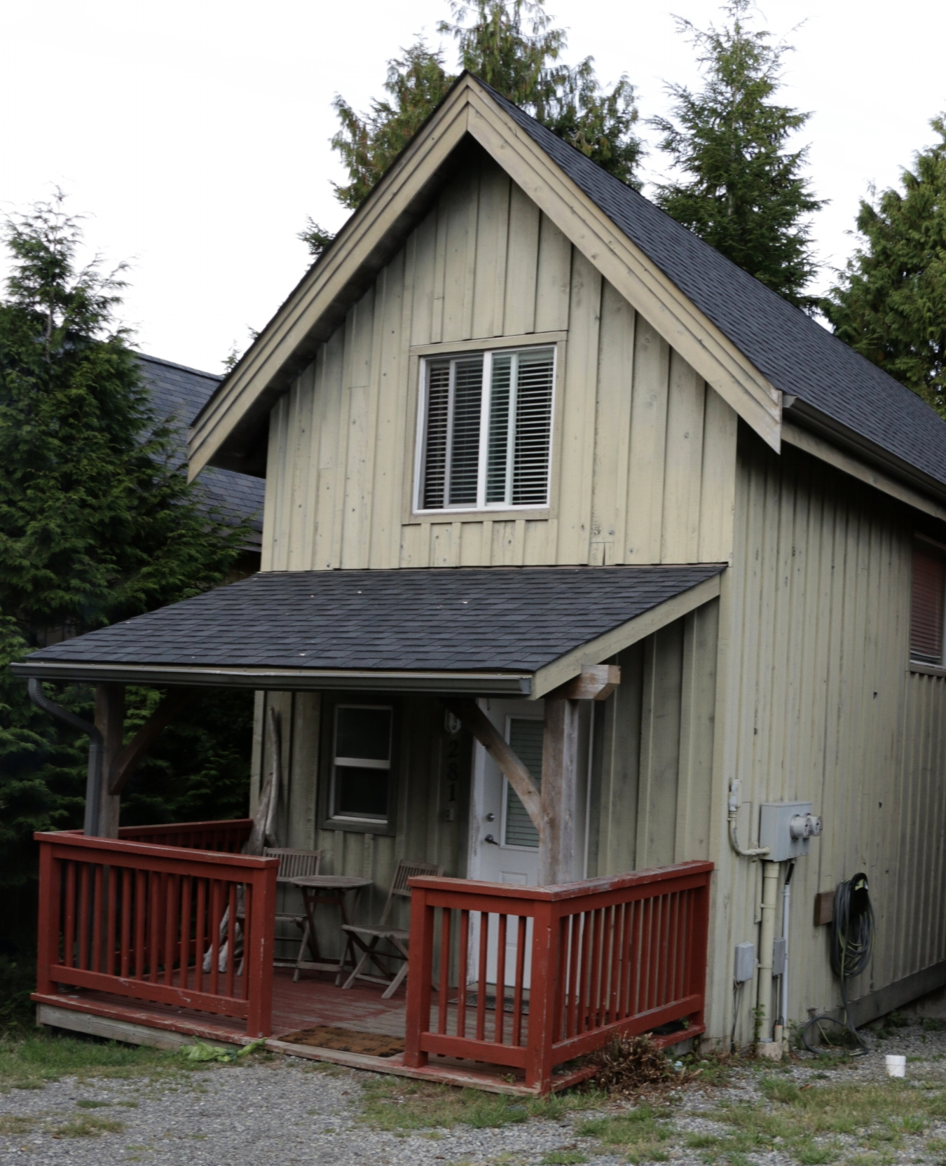 The cabin in Ucluelet BC.