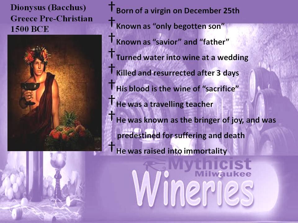 Dionysus Jesus Parallels Mythology Religious Parallels.jpg