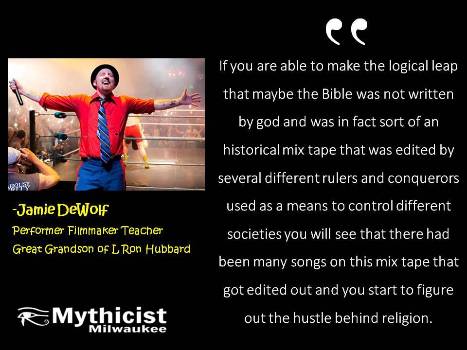 Jamie DeWolf on Scientology