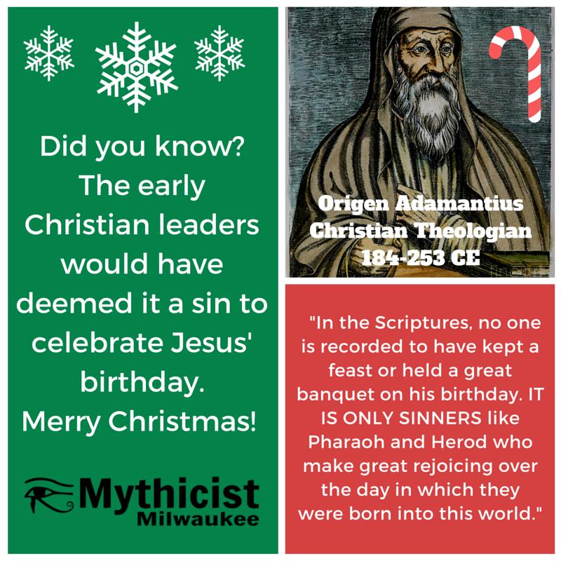 Origin Christians didn't celebrate Christmas