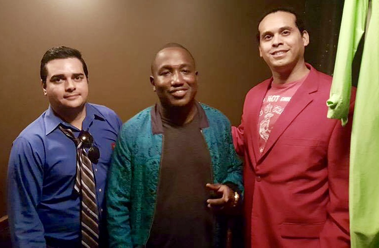 Sean Fracek, Hannibal Buress and Fritz Blandon backstage in Milwaukee at The Eric Andre Show Live.