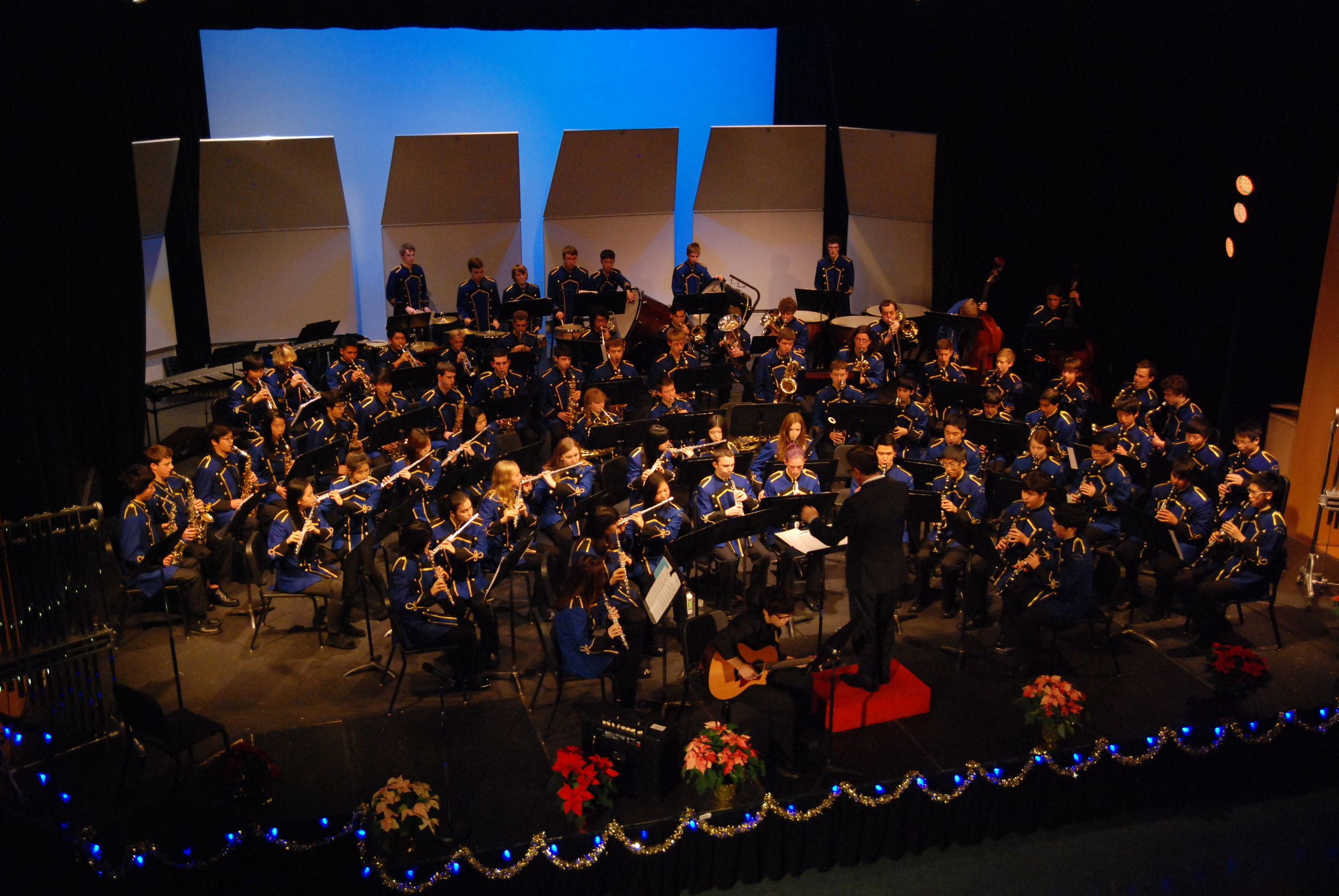 Playing Timpani at Christmas concert (top left)