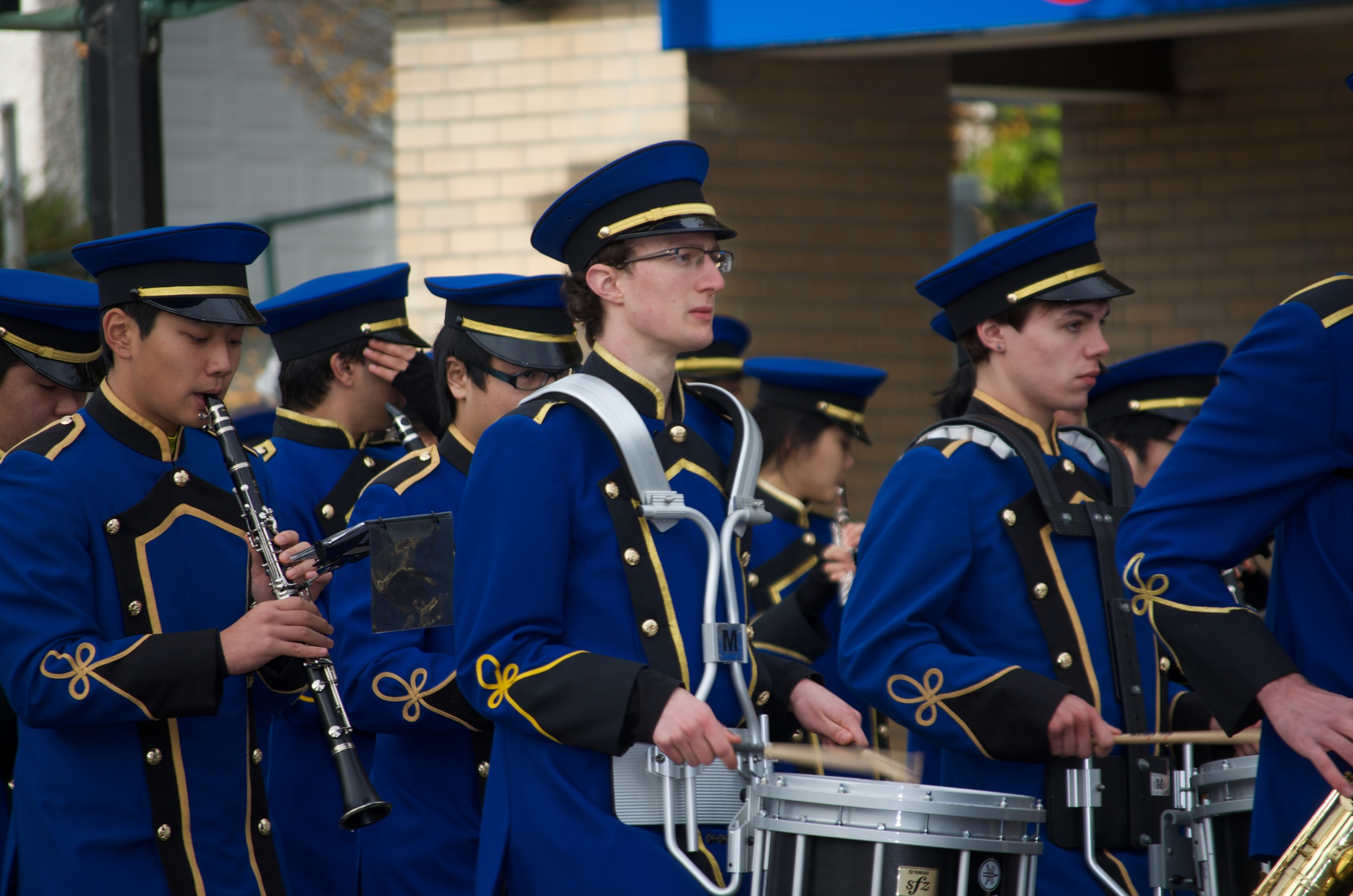 Playing Snare Drum on Remembrance Day