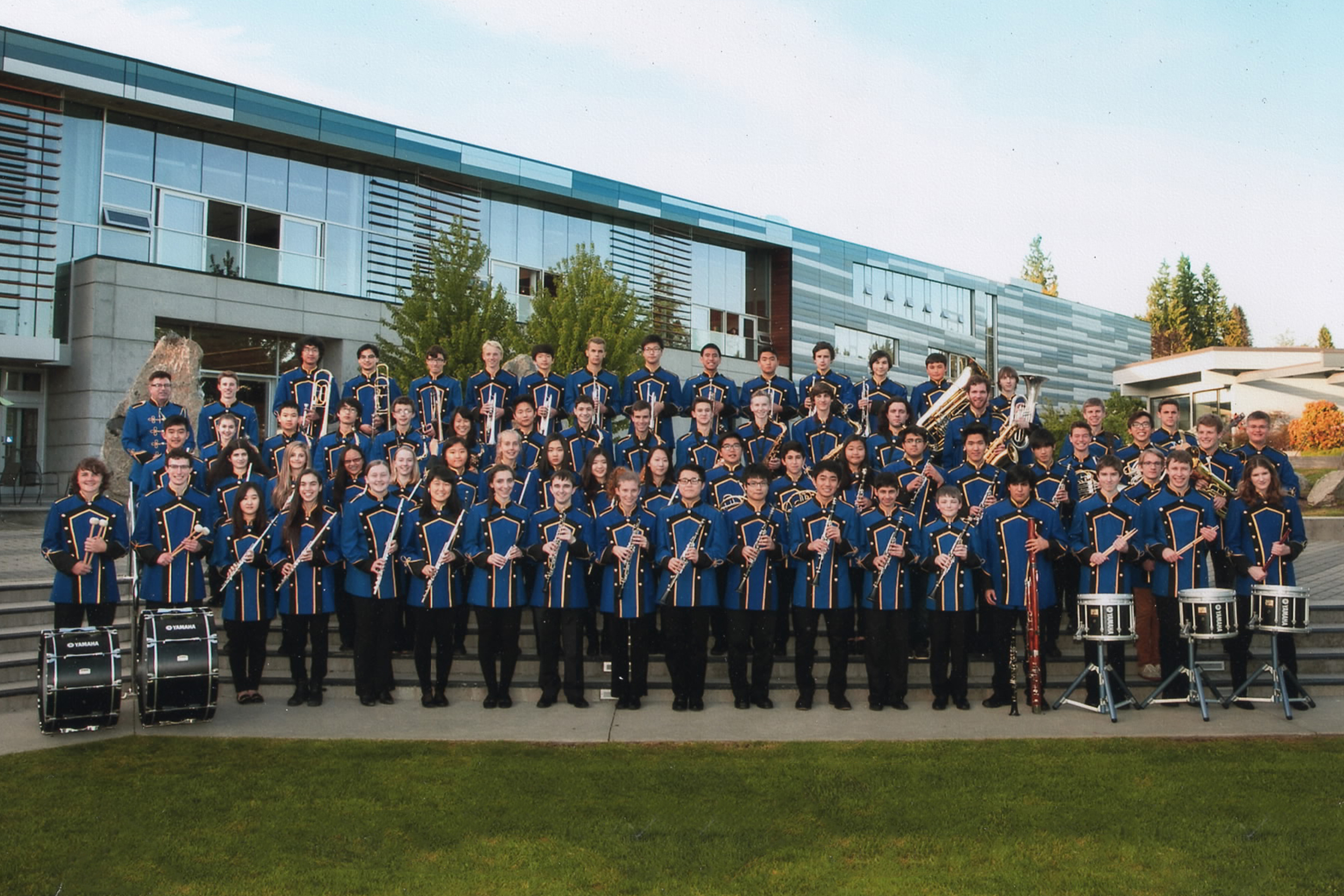 West Vancouver Symphonic Band 2014 (bass drum front row second from left)