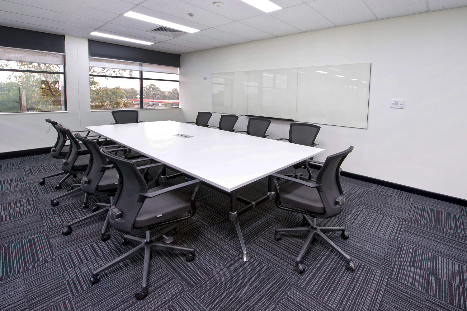 Tok Tok meeting room table and Tess conference room chairs