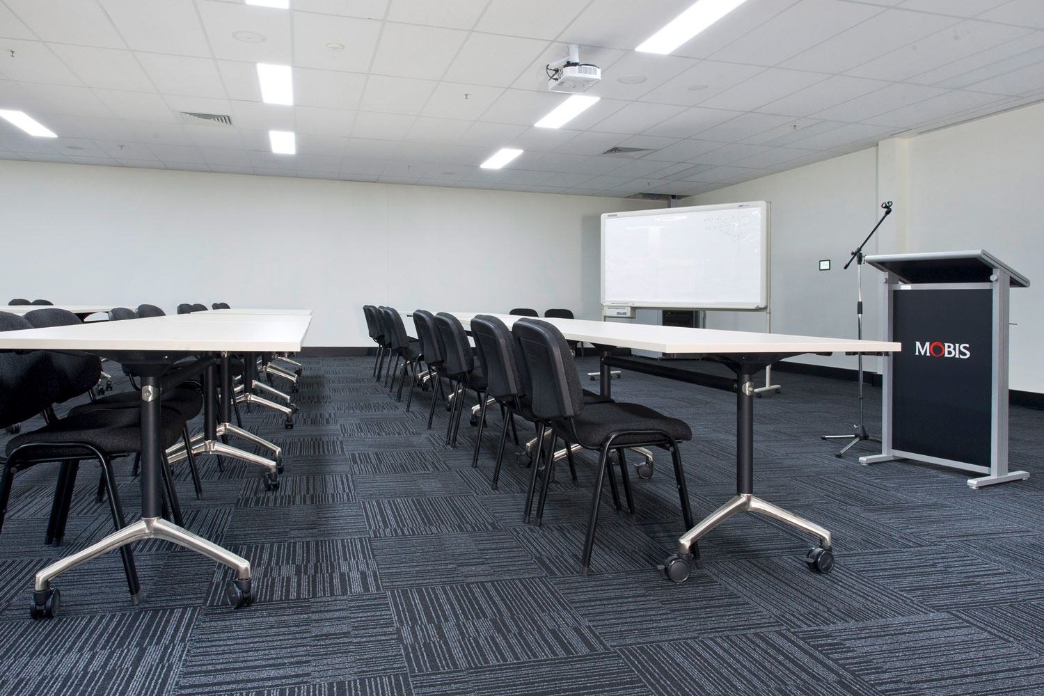 Flip Tables and training room chairs