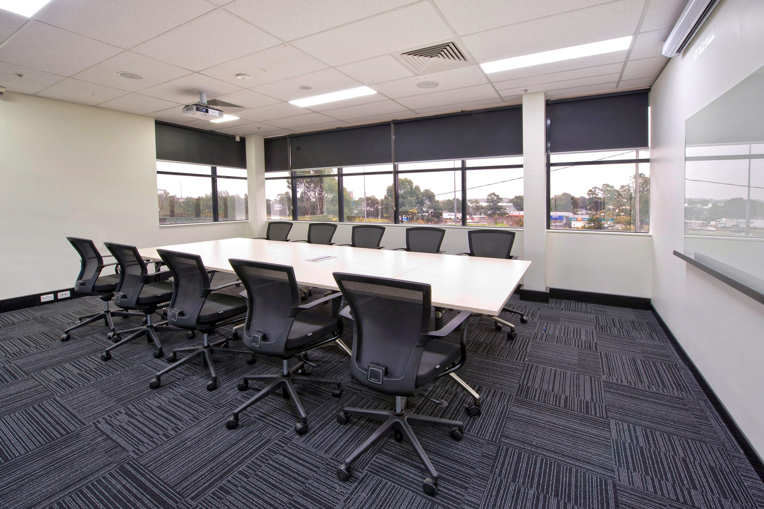 Flip Table and Tess conference room chairs
