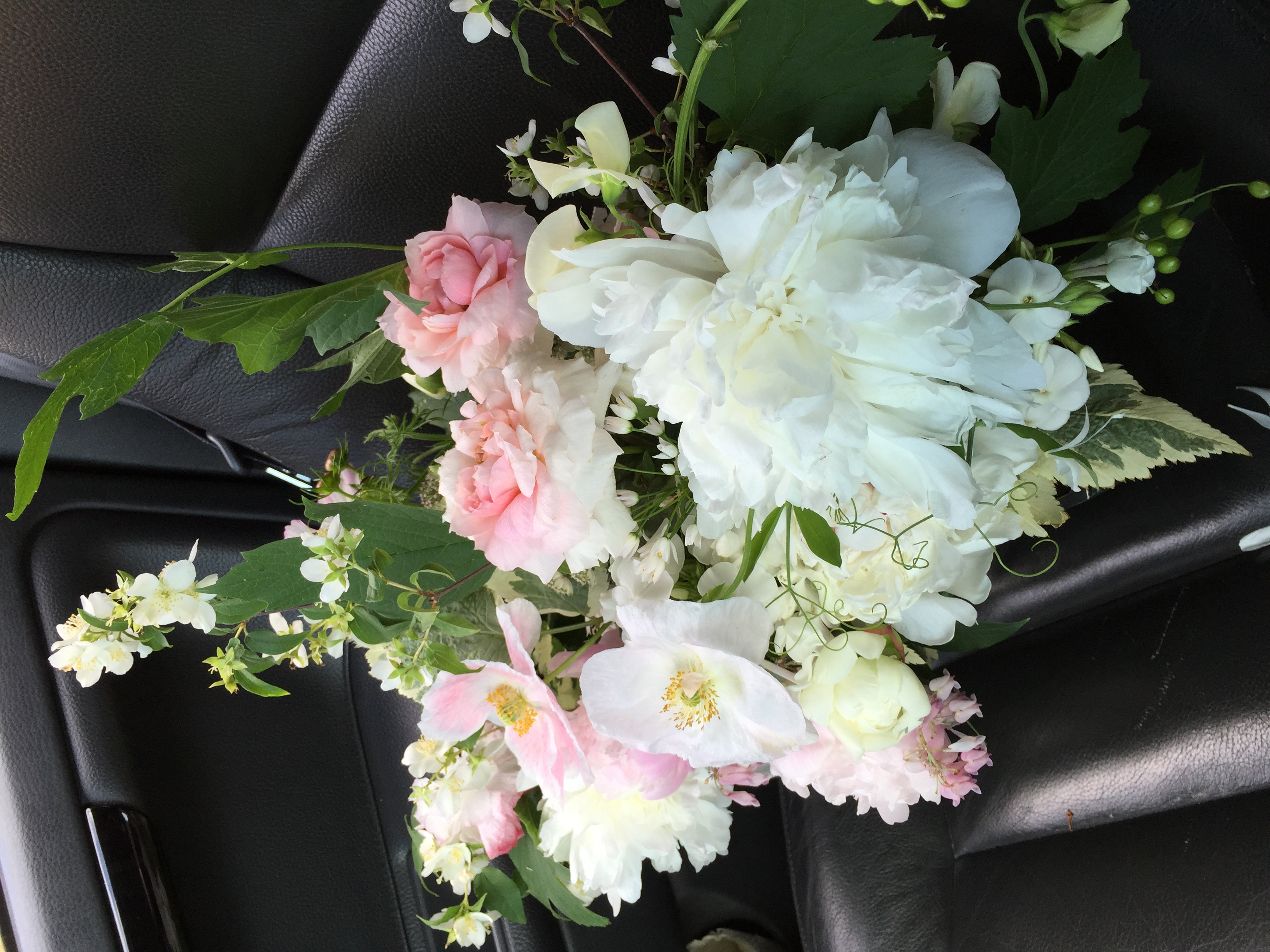 Special bouquets ride up front
