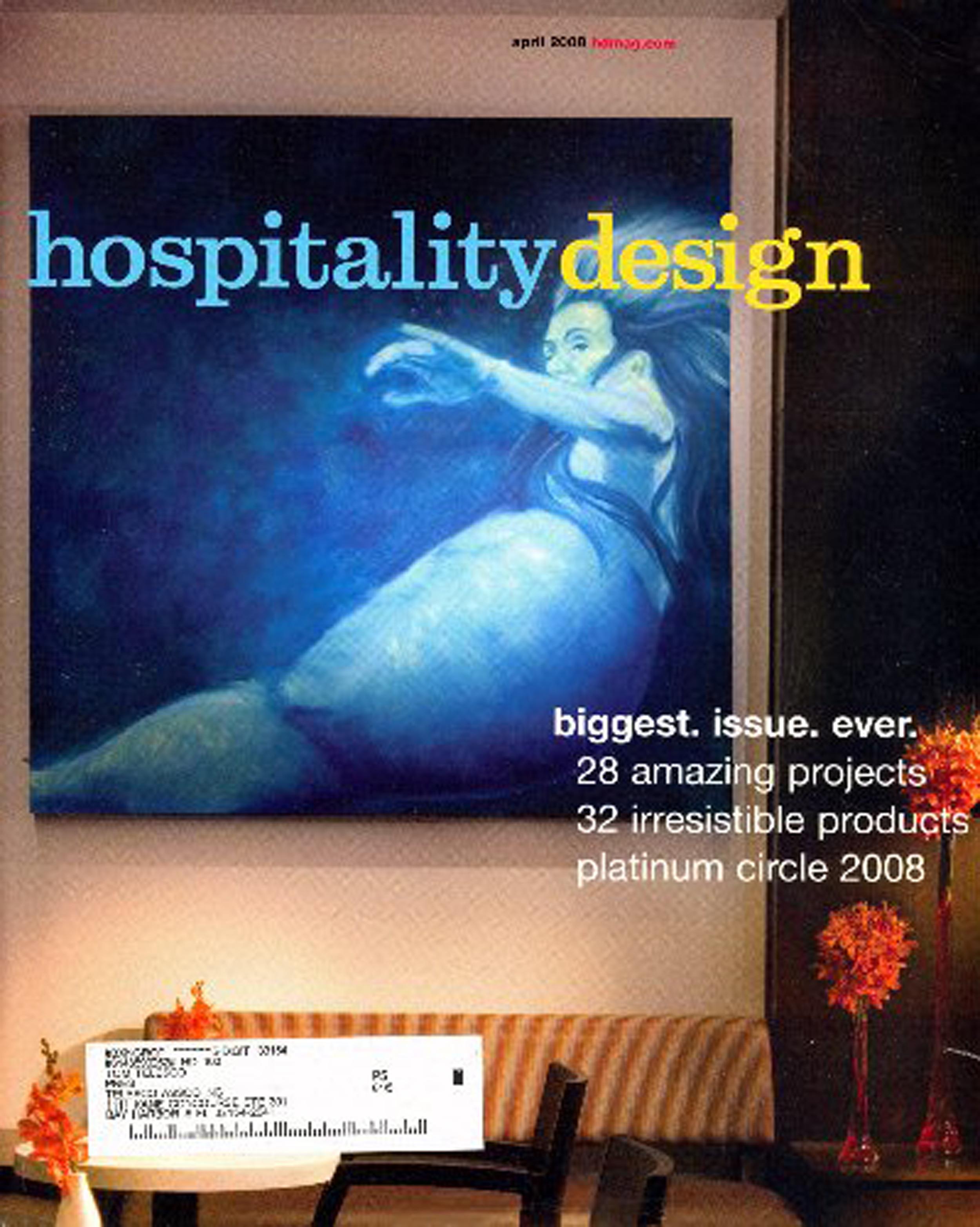 Hospitality Design Magazine - April 2008