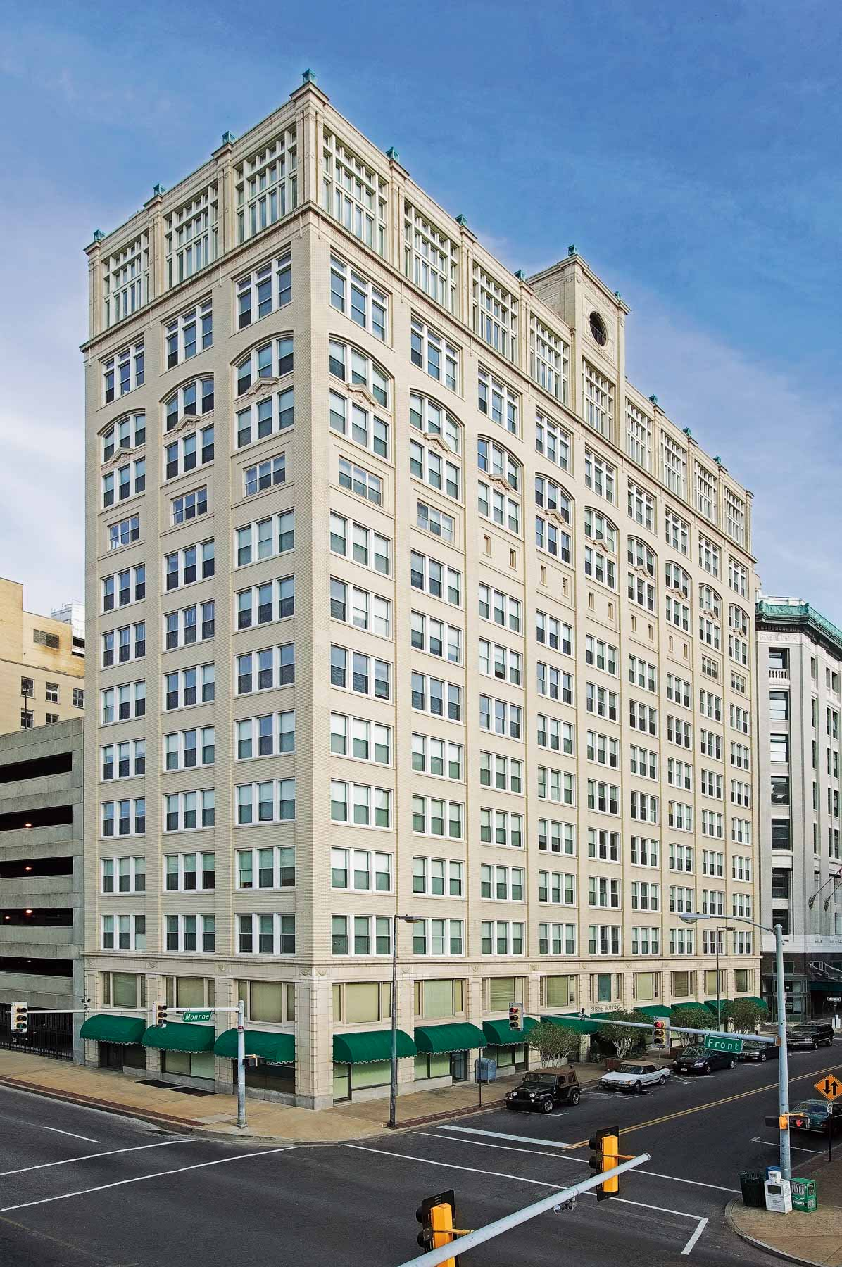 Photography of Shrine Building at 66 Monroe to provide 2 views to serve as basis for a pen-and-ink or Heliogramme rendering. The images are for use by Red Deluxe for Henry Turley to be used only in regional advertising and direct mail for up to one year.