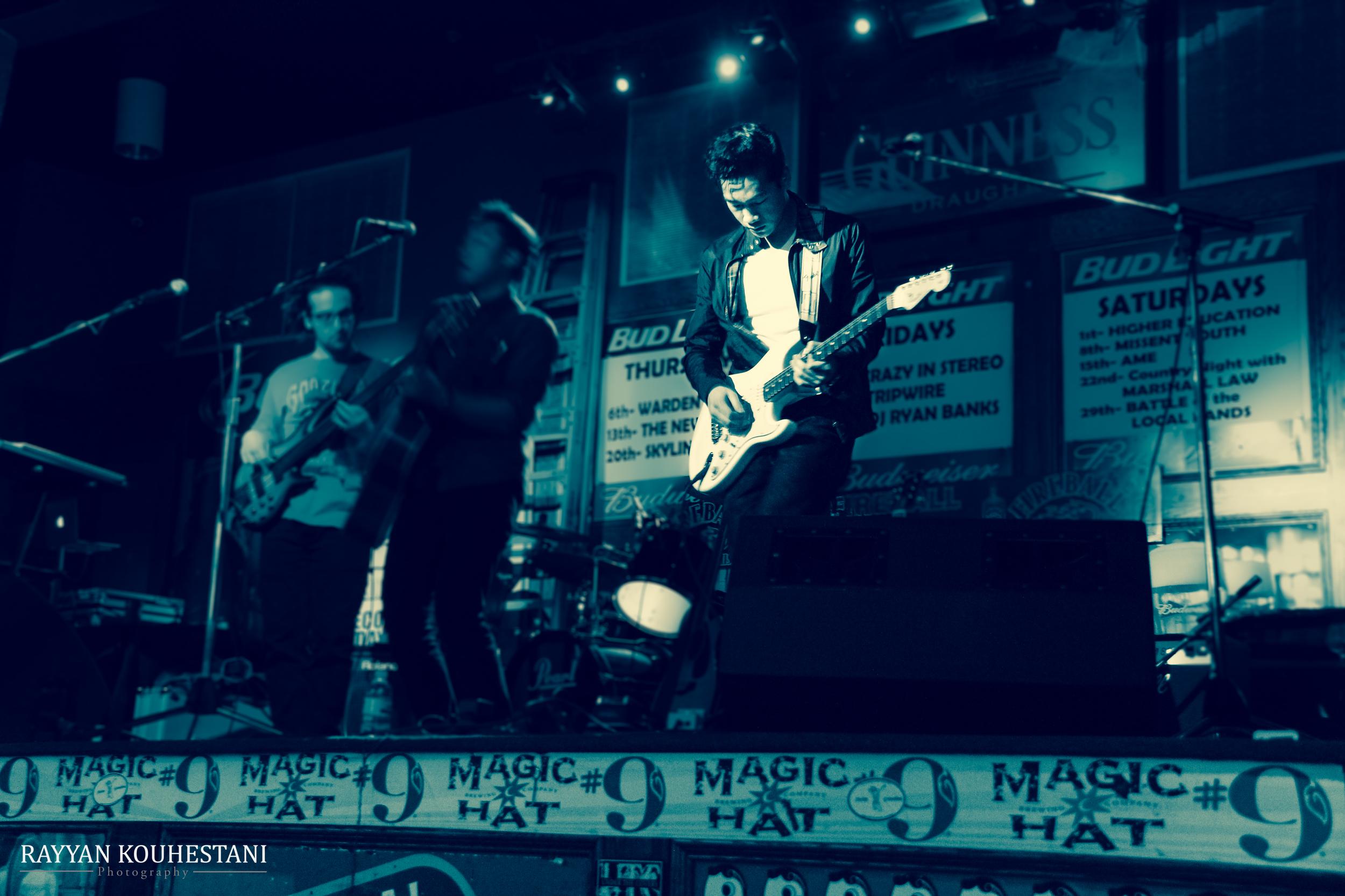 Jeff on lead guitar
