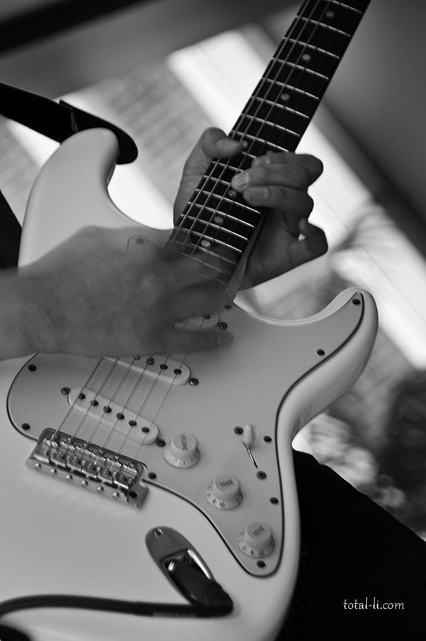Jeff's custom-built Fender Strat