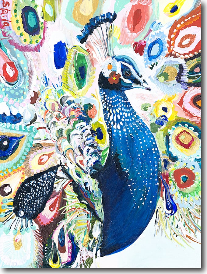 """P for Peacock""  Click on the picture for a Limited Edition Print."
