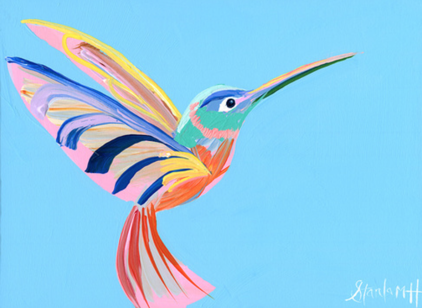 """Pink and Blue Wing"""