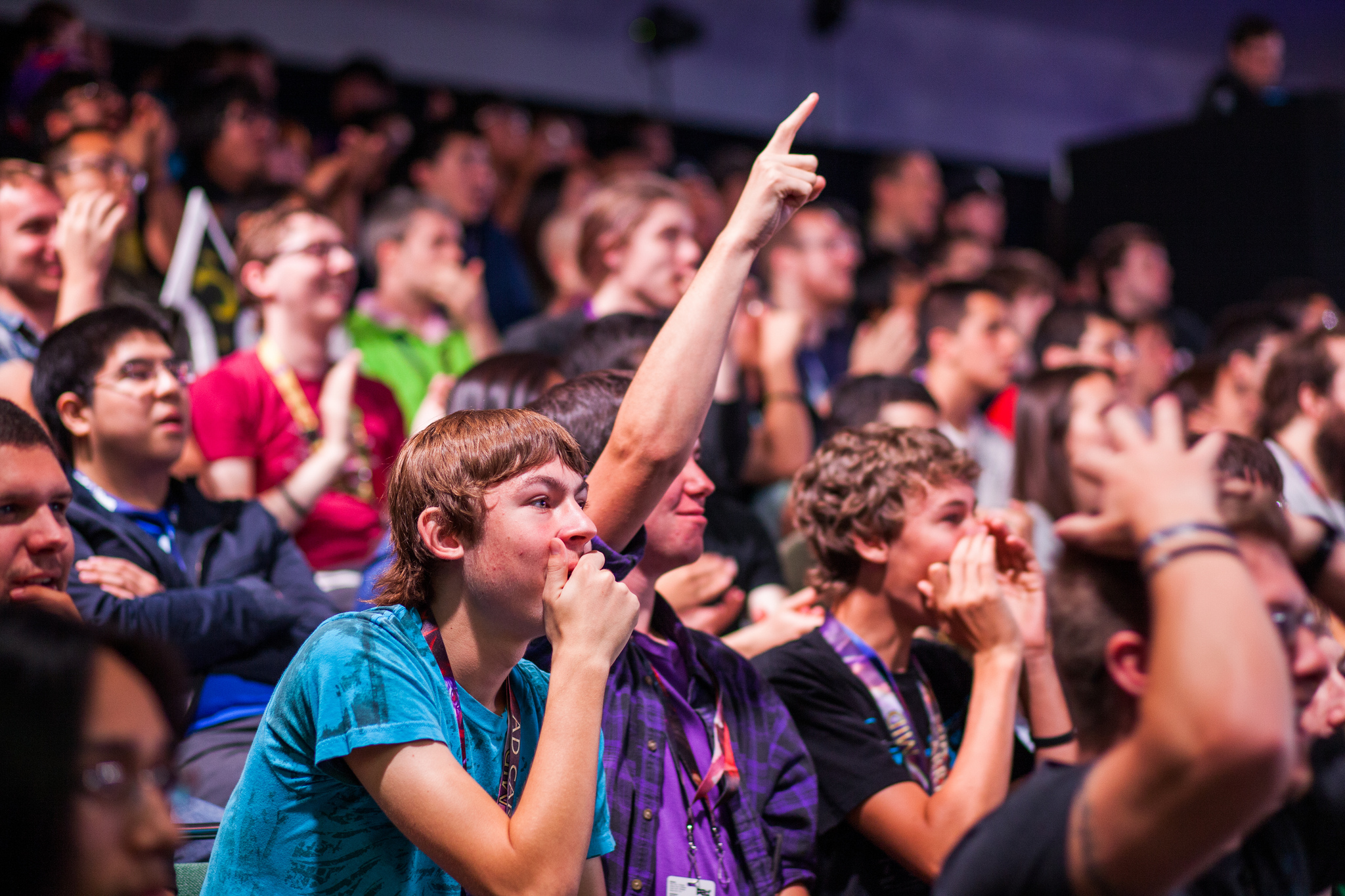 The crowd reacts to a play during Regional Championships at PAX Prime 2013.  source