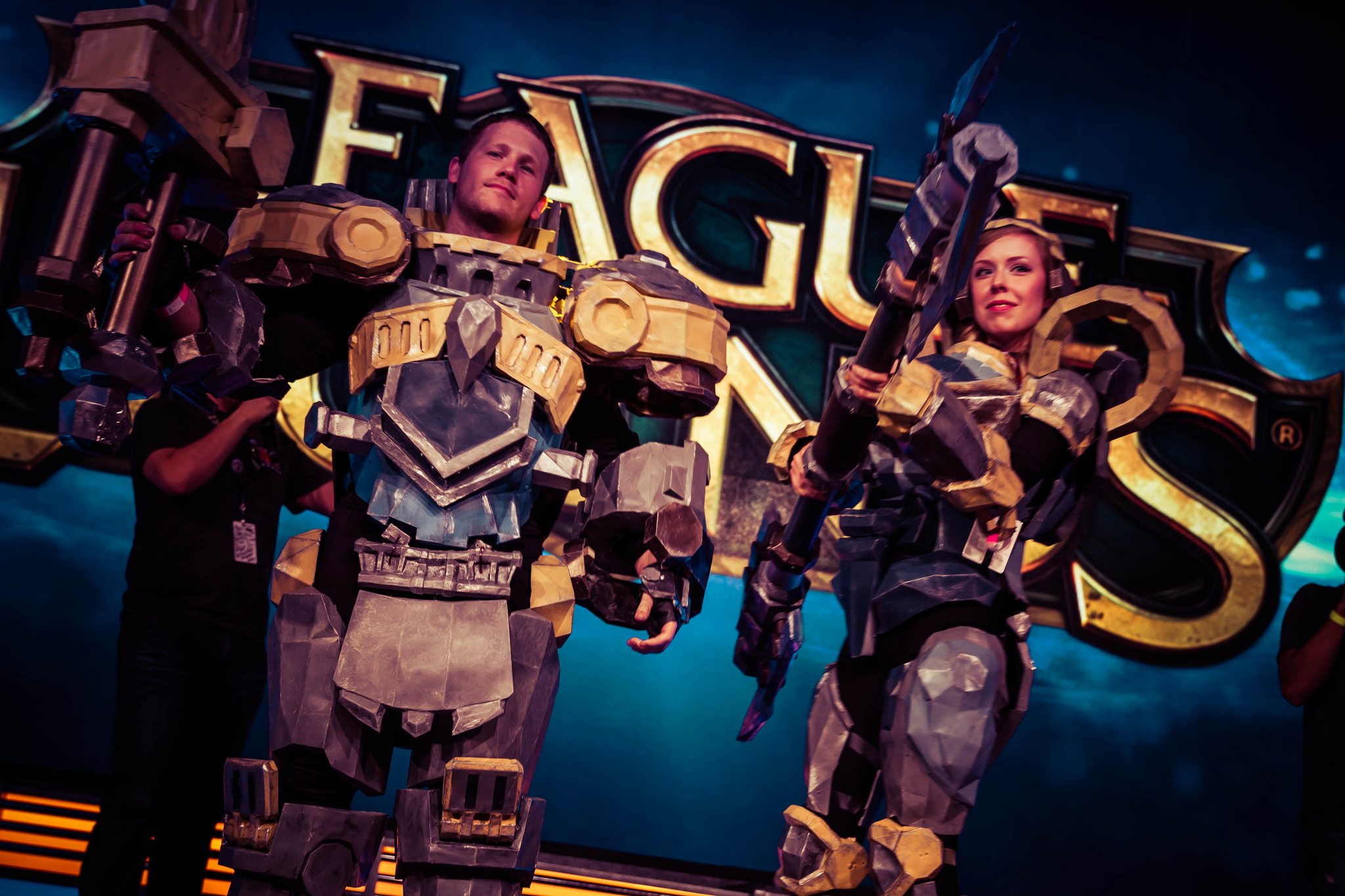 Incredible Steel Legion Garen and Lux cosplay at Pax Prime 2013.  source